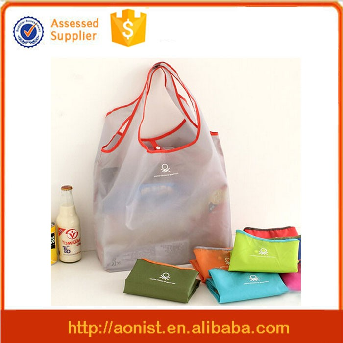 Polyester shopping bag folding shopping bag cheap nylon foldable shopping bag