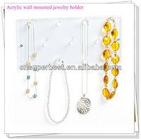 Wall mounted acrylic jewelry holder