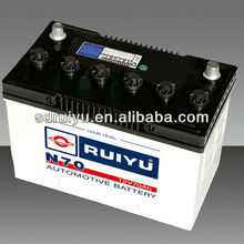 Wholesale JIS/DIN Standard Dry Charged Auto Battery, Best Price Truck/ Car Battery 12v 70Ah,AUTO Battery Made in China
