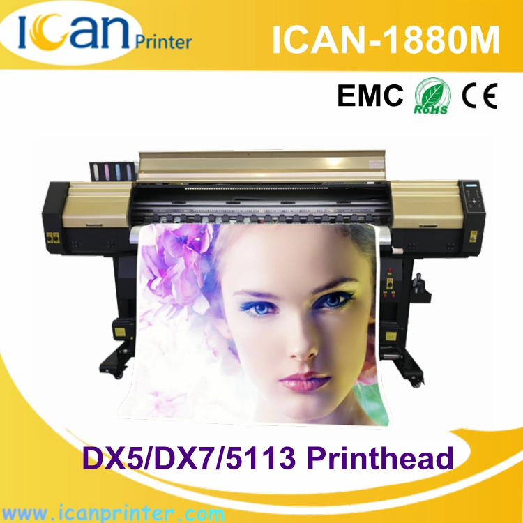 High efficiency 1440dpi resolution numeric cardboard box printing machine CMYK dye sublimation printer malaysia