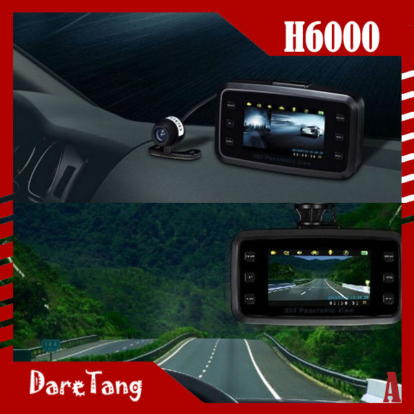 Daretang 2.7 inch TFT 720p HD Vehicle DVR White Light LEDS H6000360 view angle dash cam