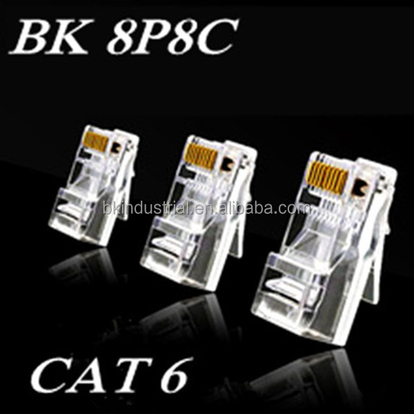 Cambodia rj45 ftp modular plug for cat6 cable network wire connector with CE certificate