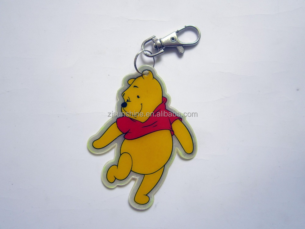 2015 Best Promotion Give Away Gifts! Reflective PVC Keychain for Children
