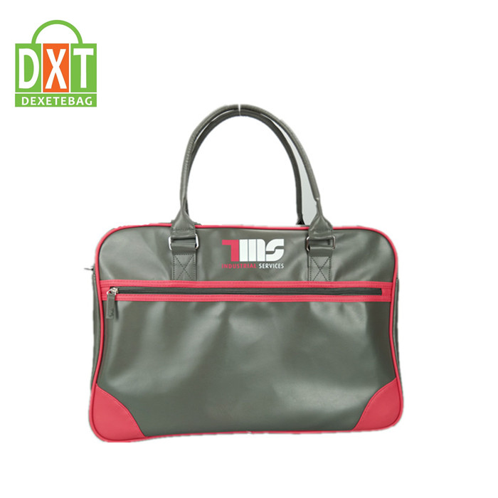 Fashion stylish PU leather duffle bag high quality sports men retro travel bag