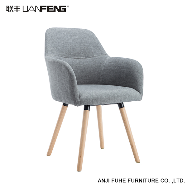 Modern cheap wooden high quality restaurant grey chair