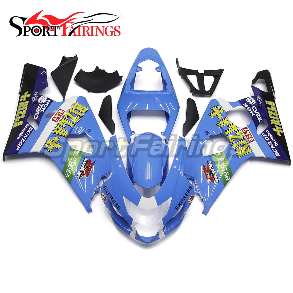 Jade Blue Full Motorcycle Injection ABS Fairing Kits For Suzuki GSXR600 GSXR750 K4 04 05 Year 2004 2005 Sportbikes Fairings