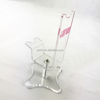 Personalised acrylic single high heels shoe display rack stands