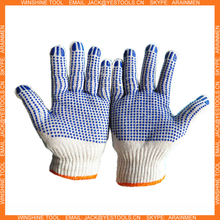 100% Natural Cotton Double Sided PVC Dots Safety Work Gloves