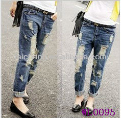 jeans low price plus size women ripped jeans