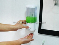 Plastic wall mount manual soap dispenser,hand sanitizer soap dispenser