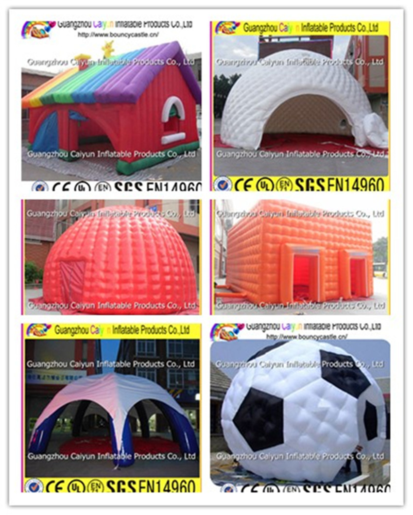 Football helmet inflatable tunnel tent