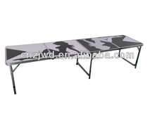 aluminum 8ft folding beer pong table