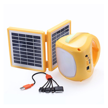 Chinese small outdoor portable led light lantern with usb port solar powered lantern