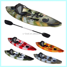 camo color 10ft sit on top sea fishing kayak