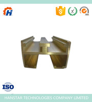 C38500 Alloy Copper Bar With Round Shape / Extruding Brass Profiles