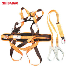 2019 high strength parachute 100% polyester 5 points full body <strong>safety</strong> harness