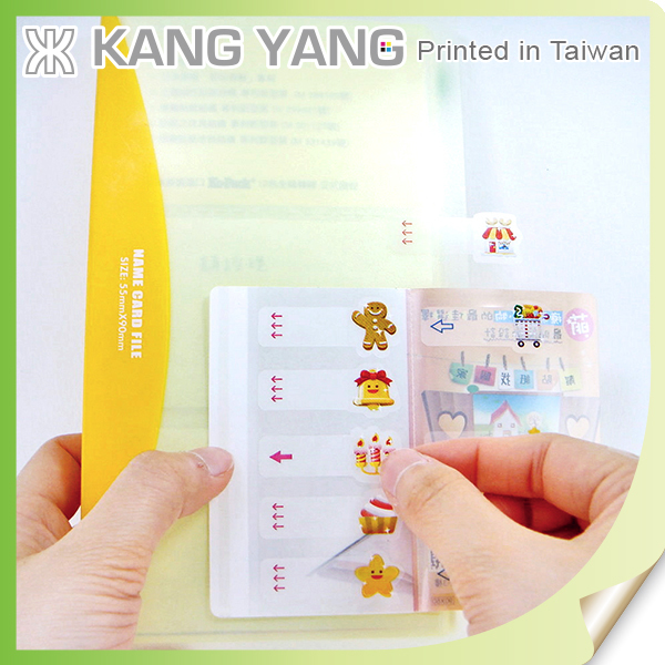 Crate To Adhere To Book Covers Of Clear PET Paper Index Booklet Label Sticker
