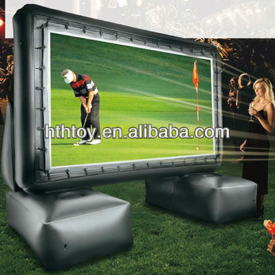 Professional backyard inflatable advertising screen for sale