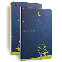 color printing pu leather case for ipad mini 1 2 3 new 2017 items