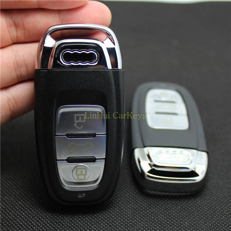 Blank New 3 Buttons Fake Car Key Shell Suit for Audi A4L A6L A5 Q5 A7 Remote Smart Car Key