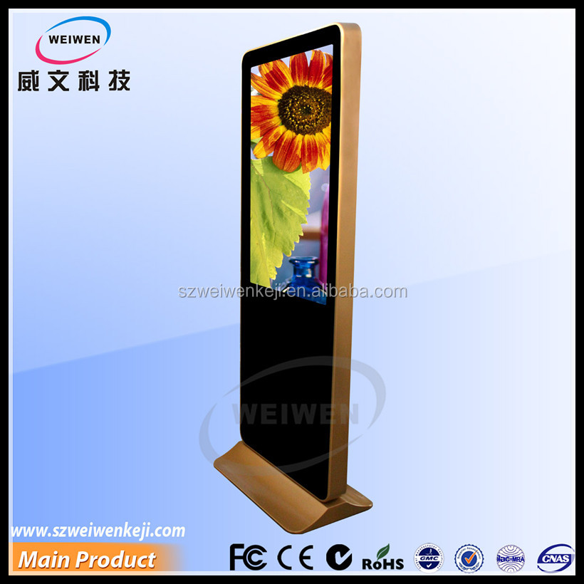 floor stand 42inch interactive double touch screen kiosk indoor full hd advertising vertical lcd display
