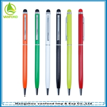 Good gift mini twist metal pen for writing and screen touch
