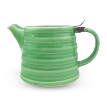 Competitive Price Customizable Wholesaler 600ml green ceramic teapot with strainer