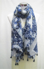 Lady Viscose Soft Floral Light Weight Scarf