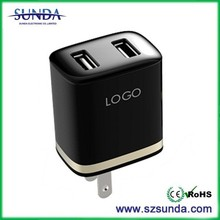 black design AC Wall charger 5V 2A Travel Charger 5 volt 2amp micro usb home charger