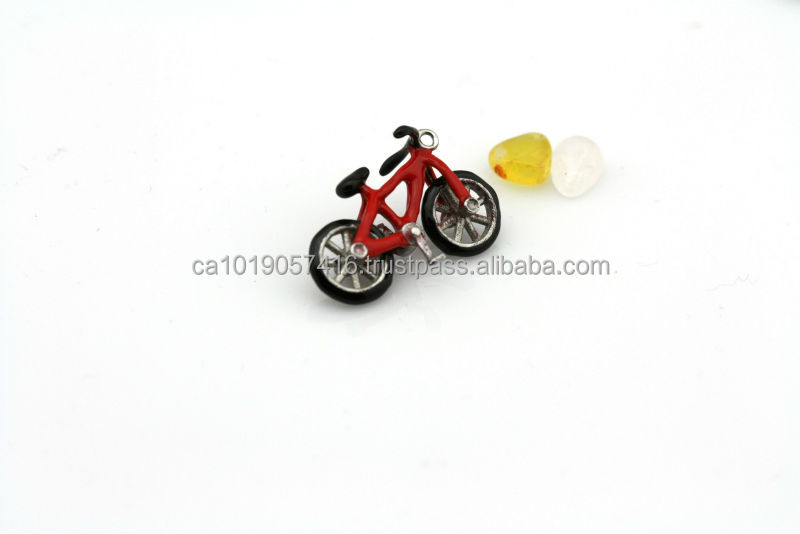 Nice Stainless Steel enamel bicycle pendant necklace SSP13P01381