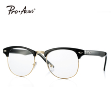 Outray Vintage Retro Classic Half Frame Horn Rimmed Clear Lens Glasses PA5162