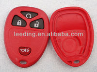 Red GM Auto Key,Keyless Entry Remote Auto Key Case with Four Buttons