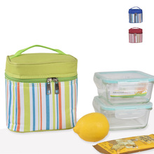 2017 New arrivals cool stripe pattern Insulated outdoor travel lunch picnic cooler bag