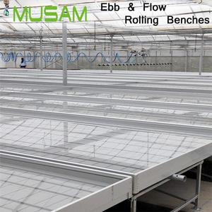 Hydroponics farm Ebb and Flow Package Rolling Bench System