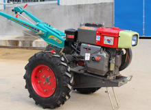 Hot selling China mini diesel good quality 8HP 10HP walk behind tractor with rotary tiller
