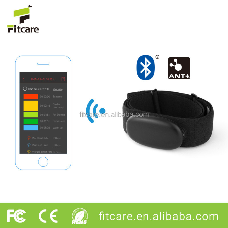 Bluetooth heart rate monitor, popular BLE ANT wristband heart rate monitor with heart rate strap