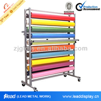 customization metal carpet rolling display rack