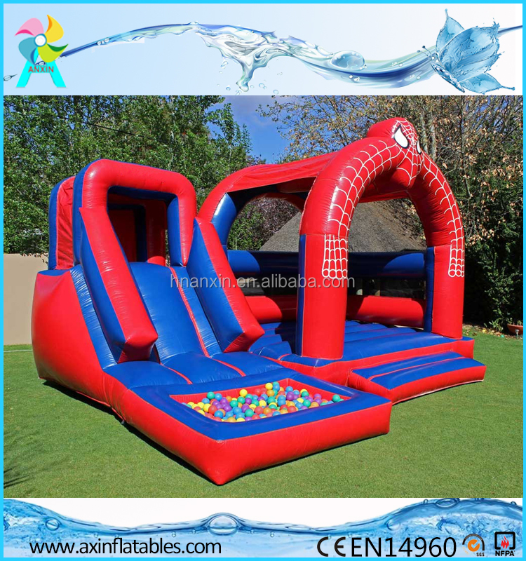 Spiderman Inflatable Bouncer Slide For Sale