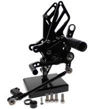 Rearsets CNC Adjustable Rear set Foot pegs For GSXR1300 GSXR 1300 GSX1300R 2008-2014 black