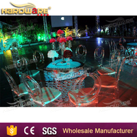 acrylic tables and chairs / acrylic wedding table decoration