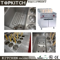 AISI 304 Good Finishing Stainless Steel Self Equiped Exhausting System Commercial Pasta Cooker