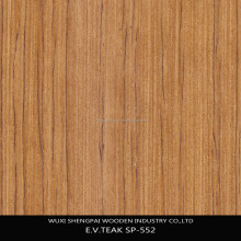 new item artificial engineered teak plb face veneer for decorative furniture door wall floor face skins