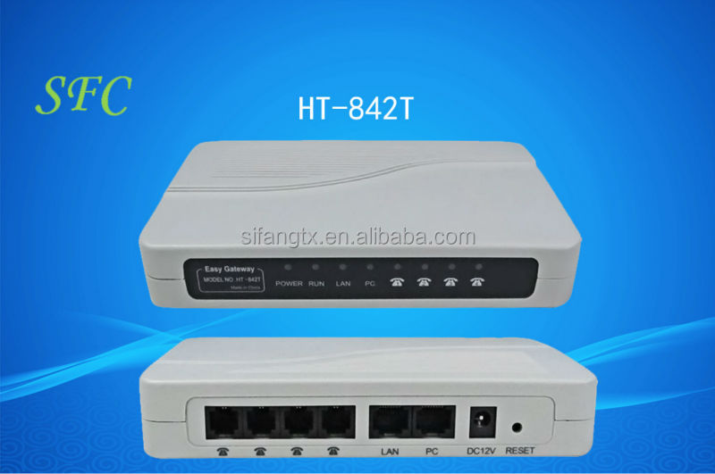 4-FXS Port with 4-PSTN Bypass Port VoIP Gateway Support VPN