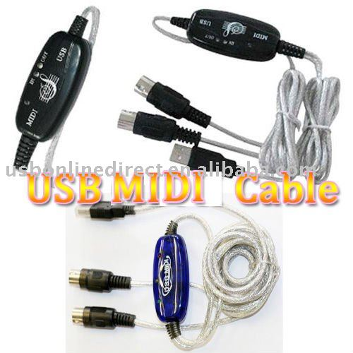USB MIDI Keyboard Cable To PC for keyboards Interface Adapter