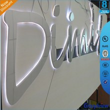 wall mounted led backlit office wall letters