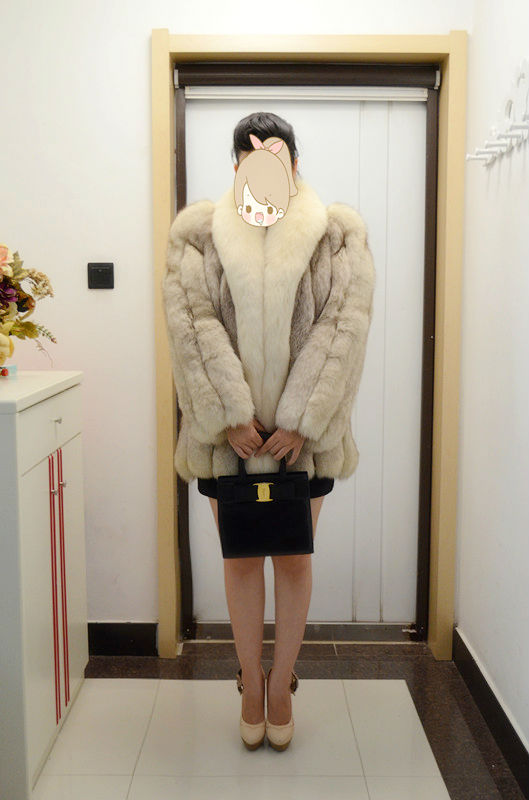 2015 Janefur Fashion Style/Scheduled Style/Fox fur Garment/Wholesale And Retail