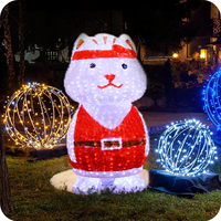 2016 led decoration light musical cat decorative items for Christmas