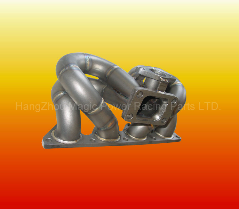3MM TUBE THICKNESS SCHEDULE 40 T3/T4 <b>RAMb> <b>HORNb> TURBO MANIFOLD B SERIES B16 B18 90-01 CIVIC/DA DC2 (FIT:HONDA)