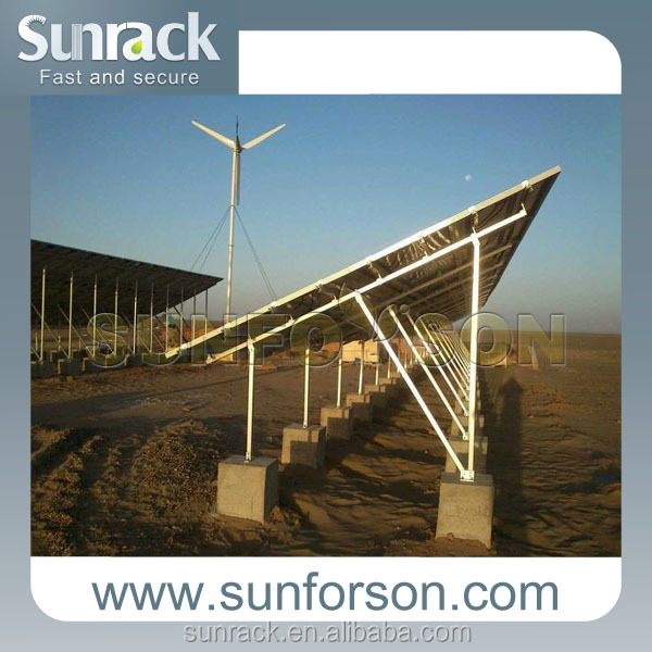 Ground mount support solar energy solar panel mounting
