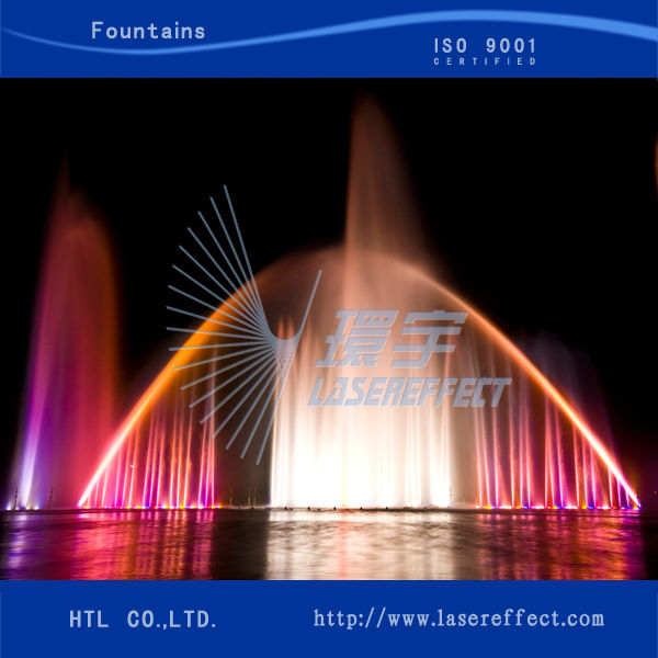 Rainbow fountain Musical dancing fountain large colorful multimedia musical fountain